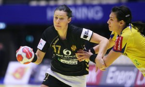 Bojana Popovic playing for Montenegro