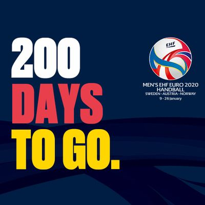 European Handball Federation Men S Ehf Euro 2020 200 Days