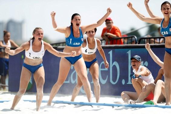 european handball federation competition heats up at beach