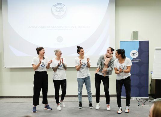 European Handball Federation Handball Stars Offer Advice