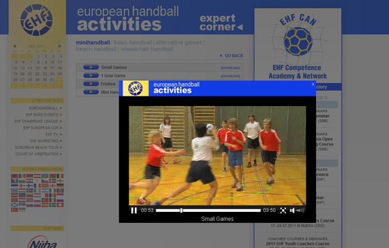 EHF Video Online CAN