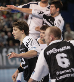 Ahlm is not only top scorer, also a tough defender