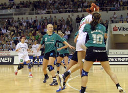 The Viborg-Győr EHF Cup Final in 2004