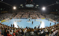 Sparkassen Arena, venue of the first leg