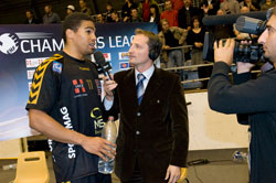Chambery's Narcisse interviewed by Sport+