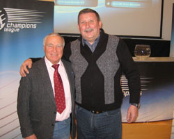 Prokop with Domovic in the EHF HQ