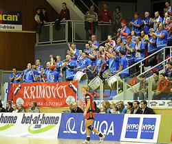 Krim's away fans.