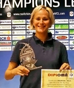 Ungureanu with her MVP award