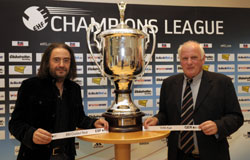 Luis Miguel Lopez and Dietrich Ziemer with the CL trophy