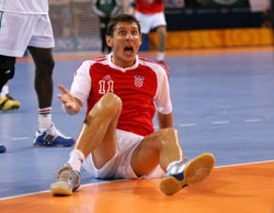 Dzomba is not often on the floor with the Croatian national team
