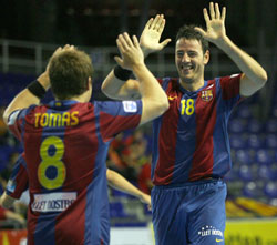 Barcelona are happy in the CL so far