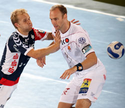 Two key players of the derby: Eggert and Stefansson