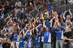 The home fans celebrated their third victory this season