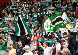 Hammarby were supported by a huge crowd