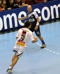 Kolding went out against Veszprém last year. Hjermind may reach more this season with Ciudad