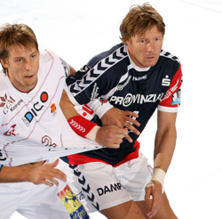 The return of Jensen (right) will give a lot of stability to the SG defence