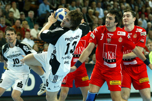 Two opponents for Vfl: Kiel (white) and Veszprém
