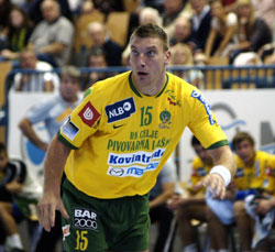 The Slovenian player is proud to play in Celje