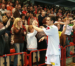 The Macedonian bids farewell to Veszprém supporters