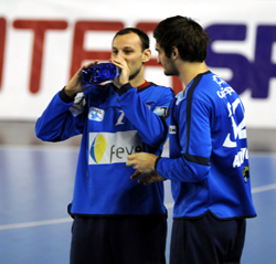 Saric (left) and Alilovic were both in good form against Ivry