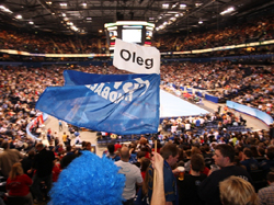 Supporting the team and Oleg Velyky