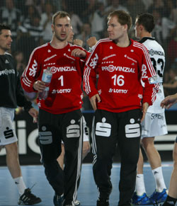 Andersson (right) has a very strong rival, Omeyer, in Kiel