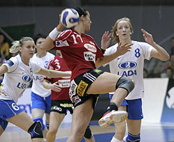 Popovic played her first tournament for Viborg and she also got tired at the end