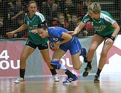 Postnova (in the middle) scored the decisive goal