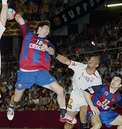 The photo is archive: Barcelona vs Ciudad Real, CL Final 2005/06