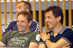 Tiselj (left) with Buducnost President, Predrag Boskovic