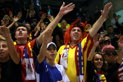 The Romanian supporters were disappointed as they were hoping for the semi-finals