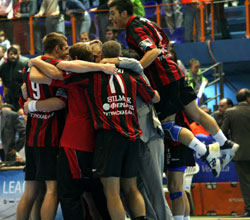 Zagreb players don't want to see Vardar's celebration again
