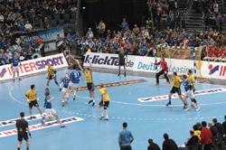 Gummersbach play in the splendid Kölnarena