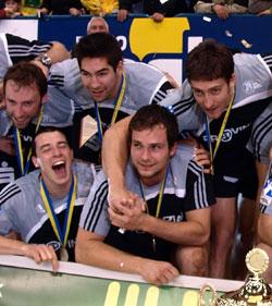 Celebrating the Champions Trophy with Kiel