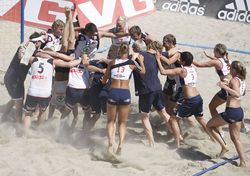 Action from Beach Euro 2009