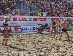 Beach Handball action from Norway 2009