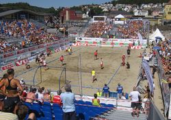 Beach Handball courts Larvik 2009