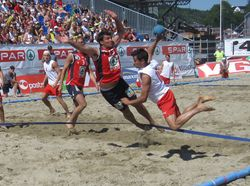 Beach Handball action from Larvik 2009